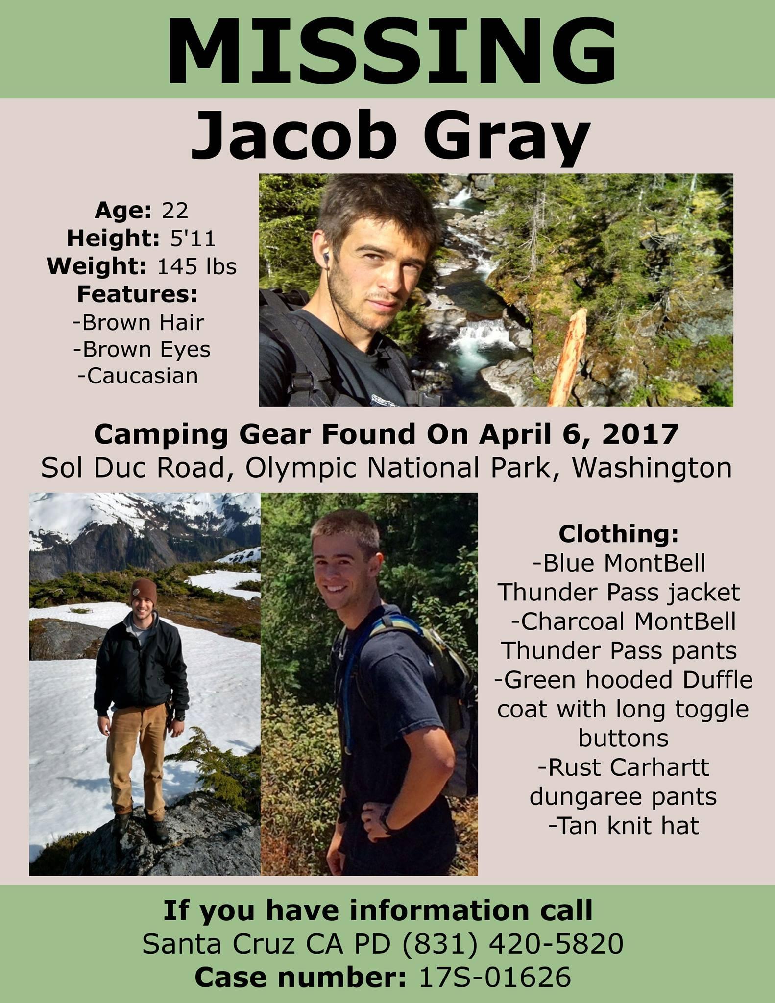 Jacob Grays MissingPerson Website – Missing Person Flyer