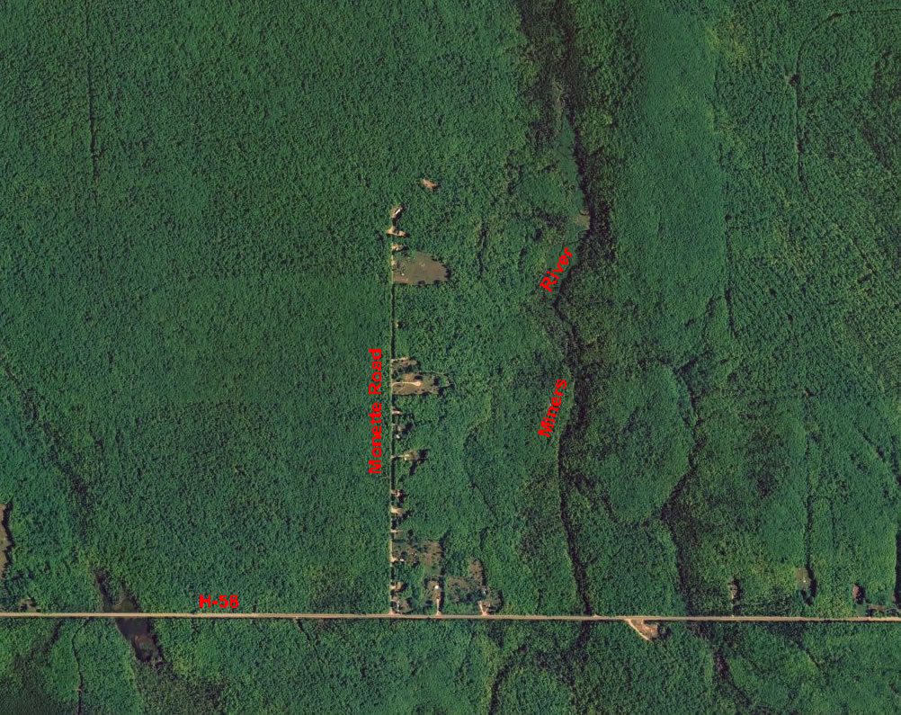Michigan alger county munising - Usgs Satellite Imagery For The Monette Road Area North Of Cr H 58 In Alger County S Munising Township