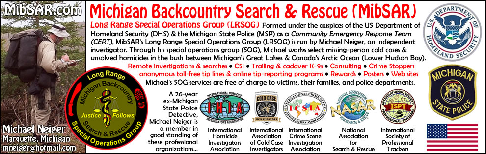 Michigan Backcountry Search and Rescue's home page